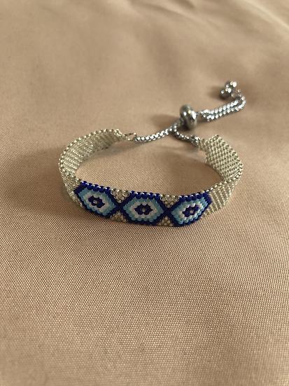 Silver miyuki bracelet