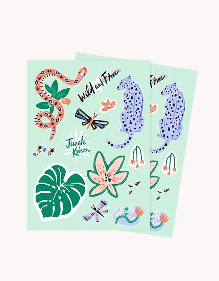 Wild & Free sticker sheets