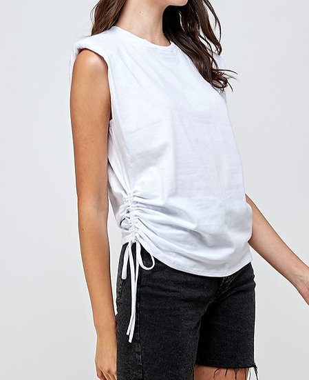 Maggie Drawstring Muscle Tee