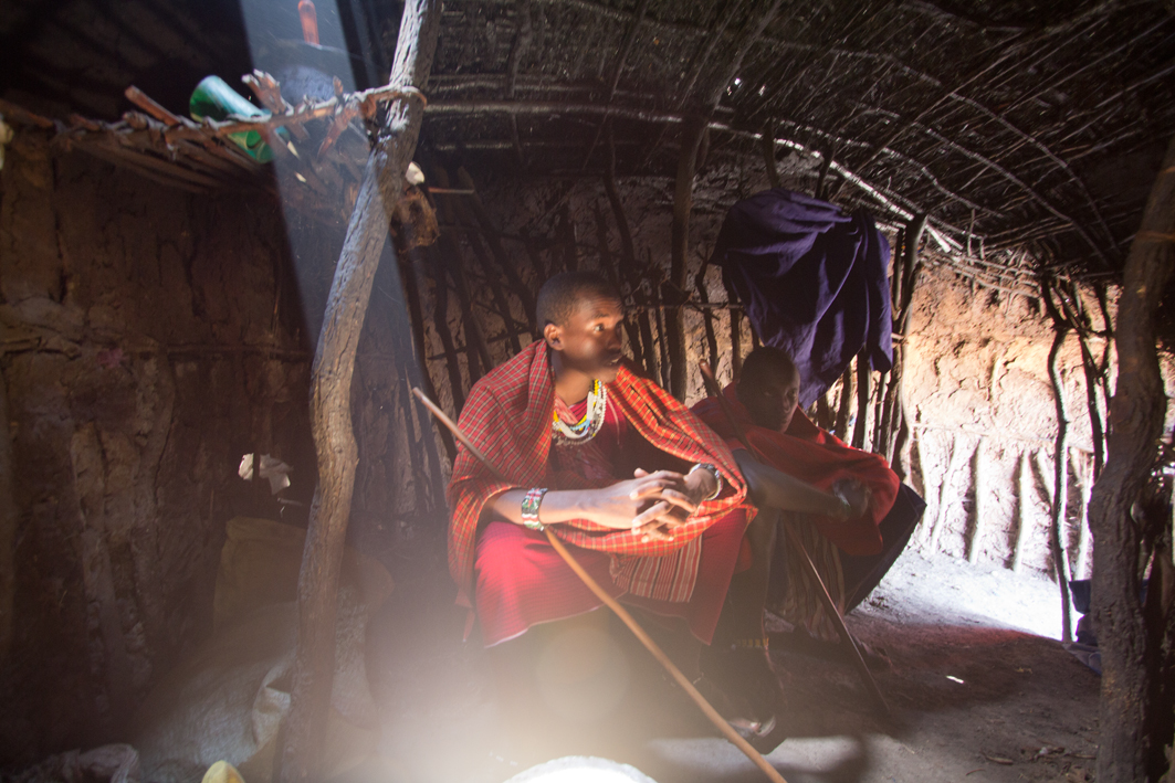 Inside the Maasai Hut