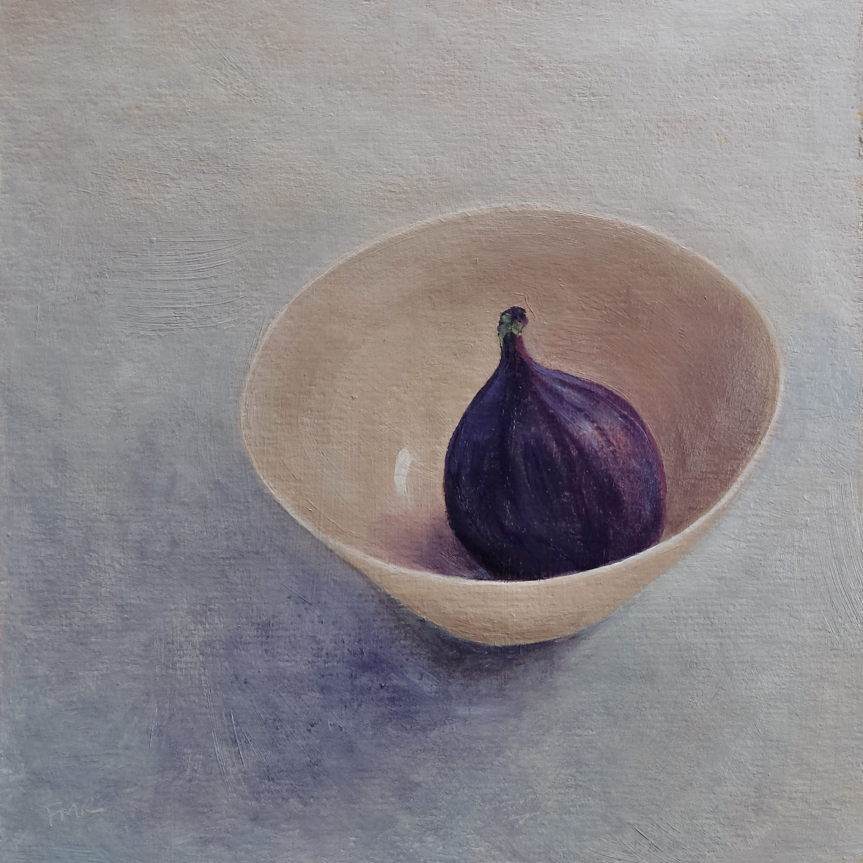 Fig in a Porcelain Bowl