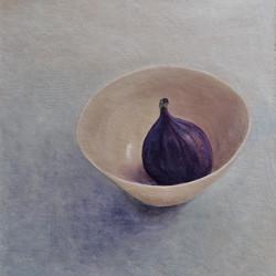 Fig in a Porcelain Bowl