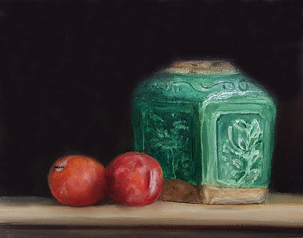 Ginger Jar and Plums