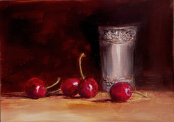 Cherries and Indian Silver