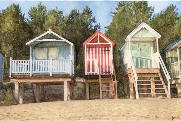 Holkham Huts, Norfolk