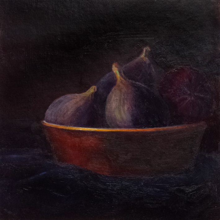 Figs in a Gold-rimmed Bowl