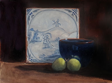 Delft Tile and Crab Apples