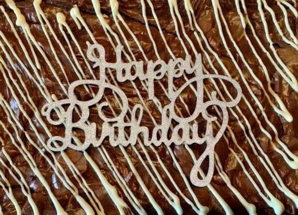 Happy Birthday Topper (Add on item)