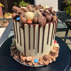 6 Inch chocolate overload drip cake