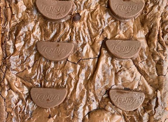 Chocolate Orange Brownie Traybake