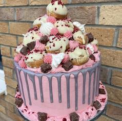Profiterole Tower Cake