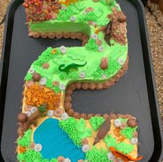 Dinosaur Number 2 Cake