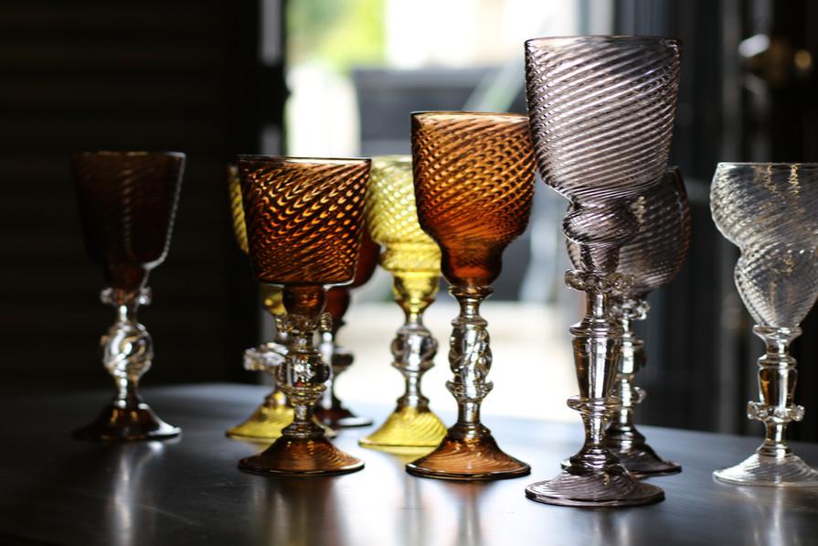 Goblets by Los Angeles based glass artist, Kazuki Takizawa