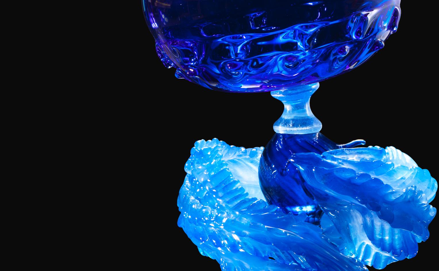 Detail of glass sculpture by Kazuki Takizawa
