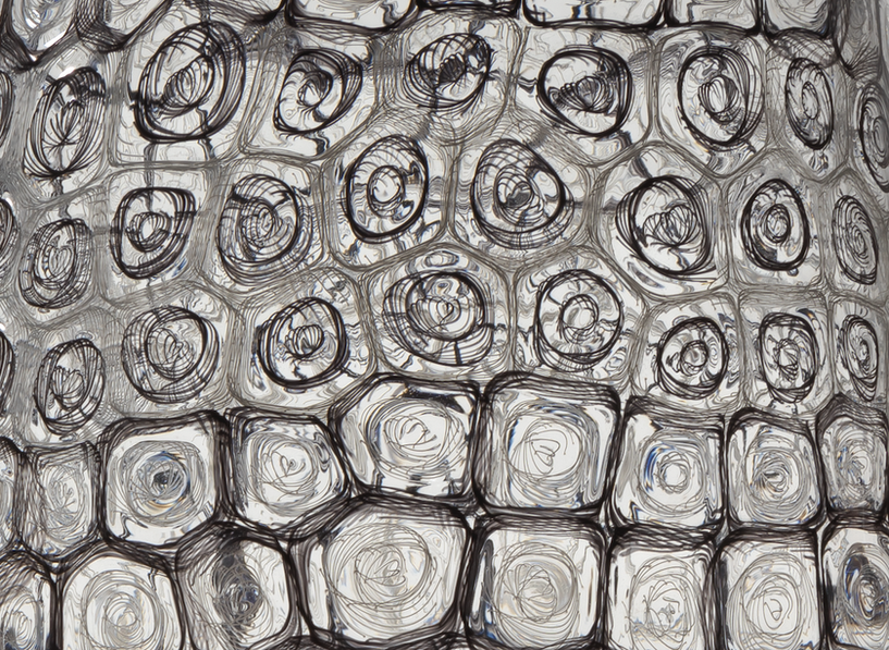 Detail of murrini and cane pattern, work by Kazuki Takizawa