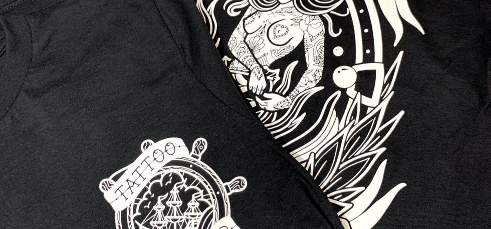 'Loose Lips' Mermaid Tattoo Print Unisex T-shirt