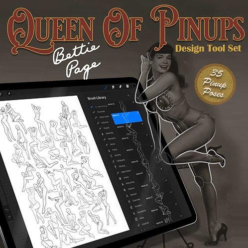 Queen Of Pinups - Design Tools Set (Procreate, JPG, PDF)