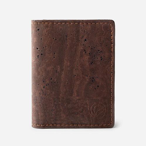 Minimalist Cork Wallet - Dark Brown