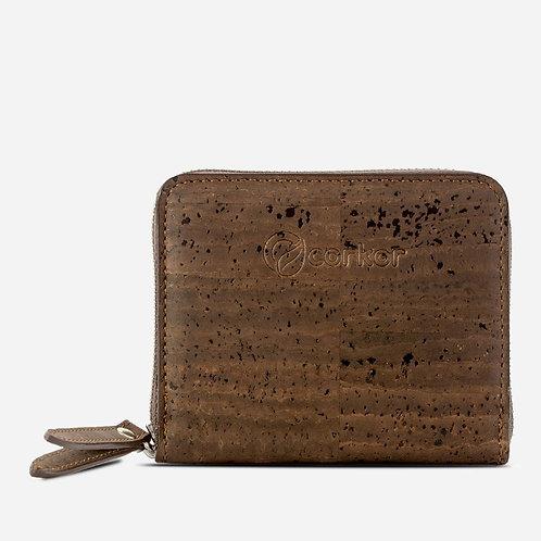 Square Cork Wallet - Dark Brown
