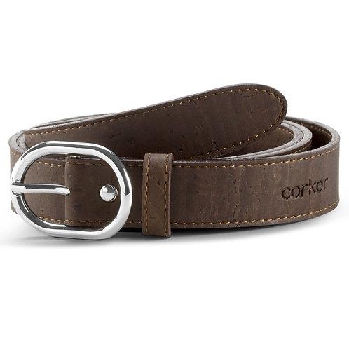 Cork Belt for Women (25 mm) - Brown