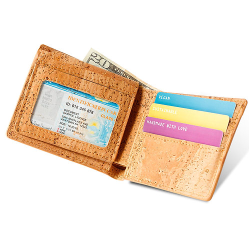 Passcase Cork Wallet - Light Brown