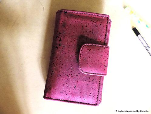 Medium Size Ladies Cork Flap Wallet