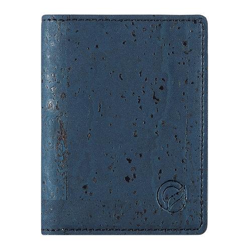 Slim RFID Blocking Cork Wallet - Blue