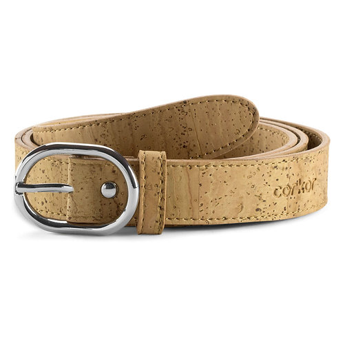 Cork Belt for Women (25 mm) - Natural