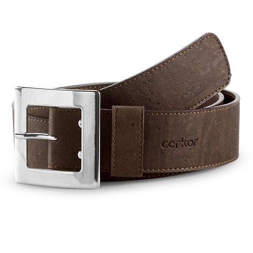 Cork Belt for Women (40 mm) - Brown