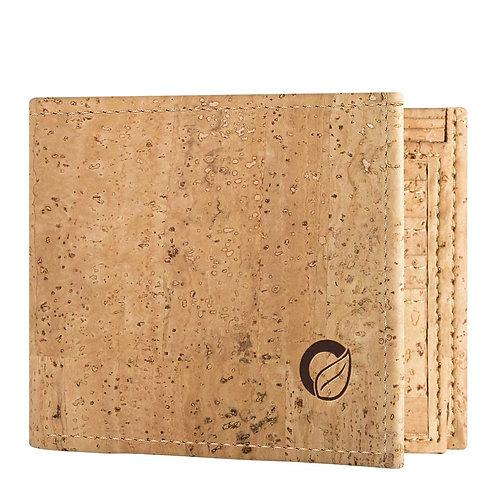 Traveler Cork Wallet for Men - Light Brown