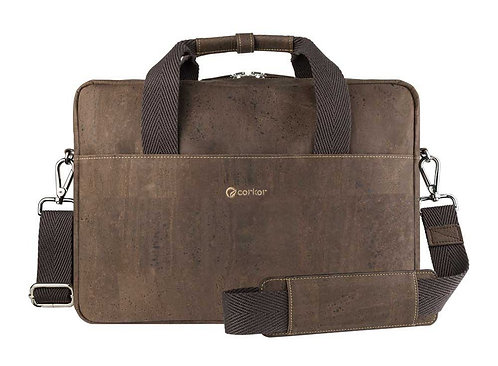 Cork Briefcase - Dark Brown