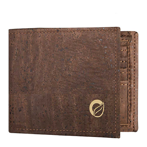 Traveler Cork Wallet for Men - Dark Brown