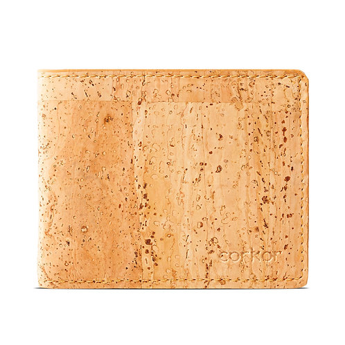 Bifold Cork Wallet for Men - Light Brown