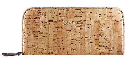 Zipper Cork Wallet for Women - Rustic