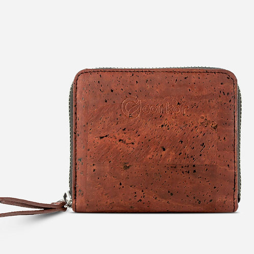 Square Cork Wallet - Red