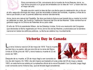 Día de la Madre y Victoria Day
