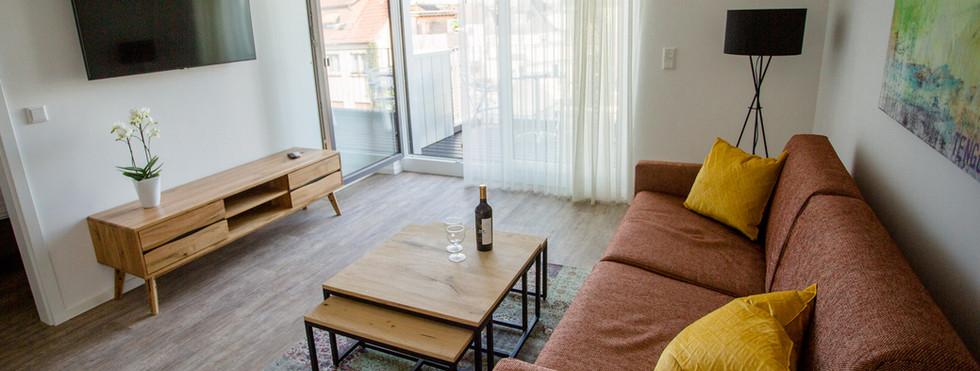 Gemütliches Wohnzimmer Exklusive Apartment