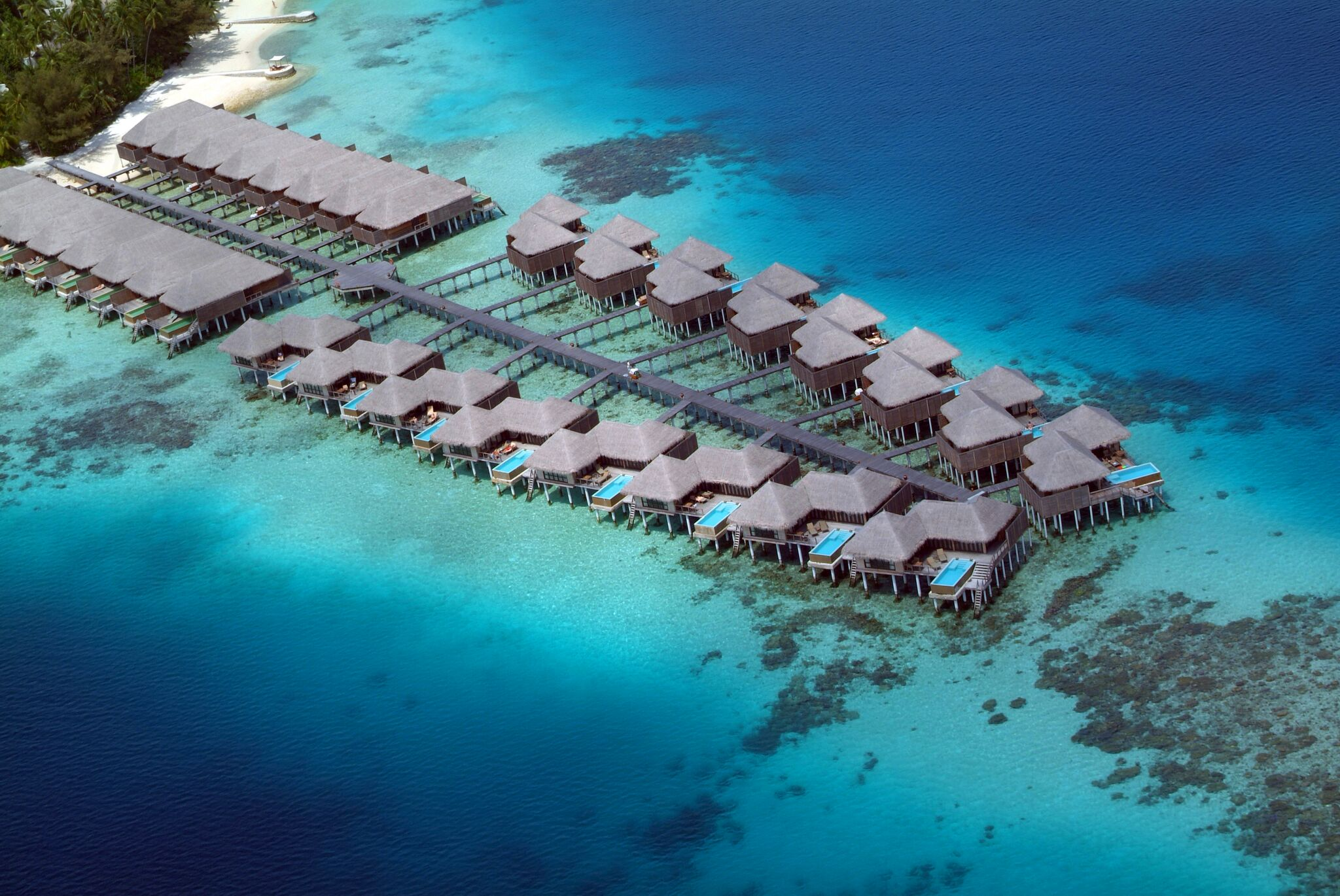 Aerial (11) Water Villa and Escape WV