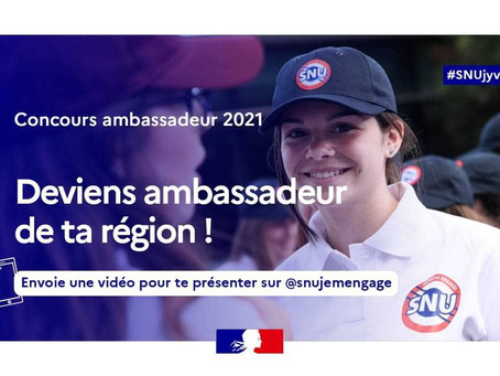 Devenez ambassadeur de la promotion 2021 du SNU !