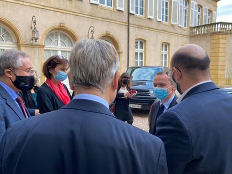 Visite du Ministre Olivier DUSSOPT à Metz