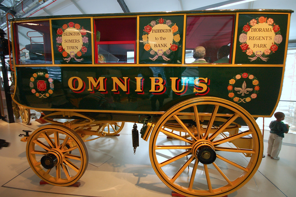 Replica of the 1829 Onmibus at The London Transport Museum