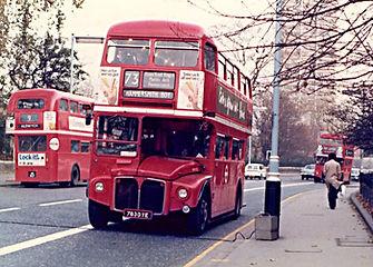 Open top Routemaster