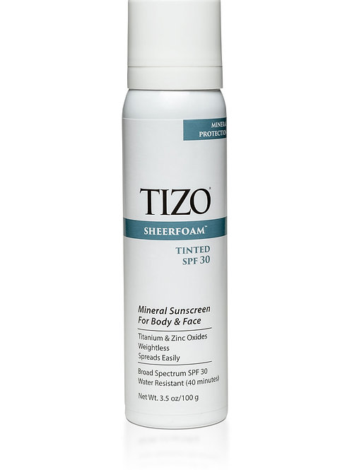 TIZO SheerFoam Sunscreen (tinted) SPF 30
