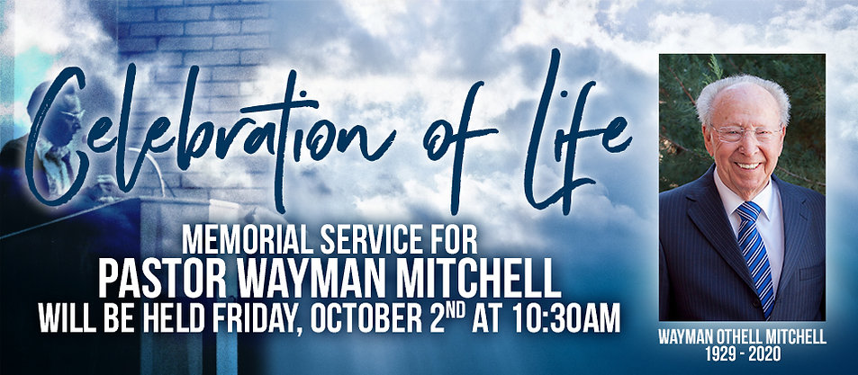 Celebration of Life: Memorial Service for Pastor Wayman Mitchell of The Potter's House in Prescott.
