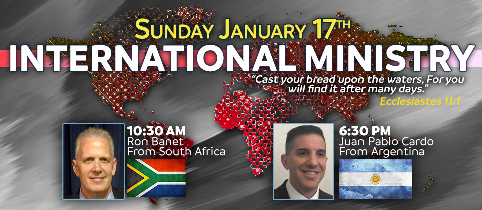 International Ministry featuring Ron Banet and Juan Pablo Cardo