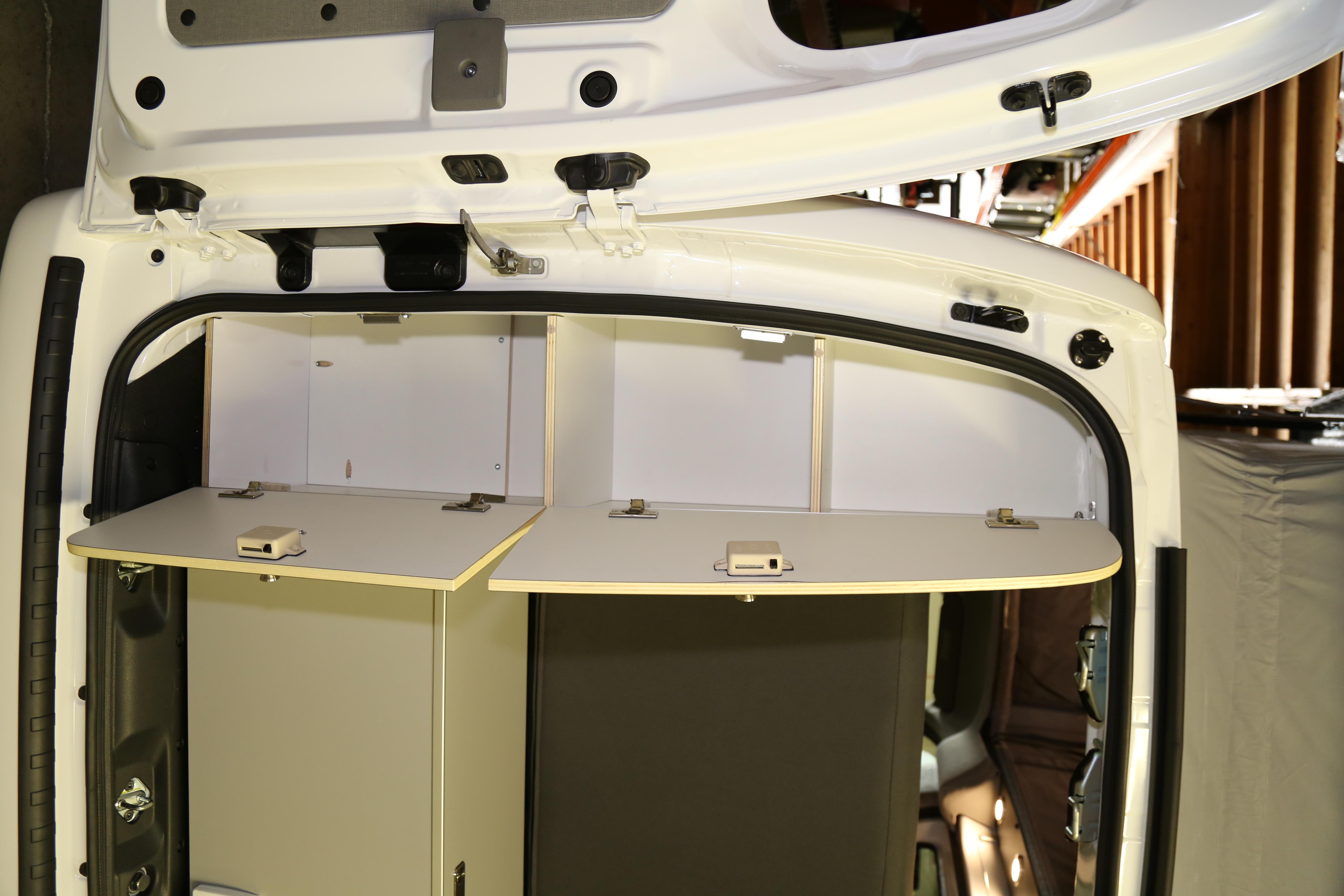 Rear cabinet storage