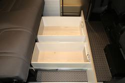 Under seat drawers