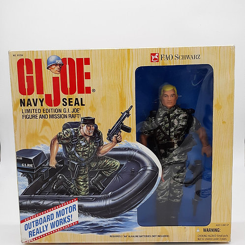Vintage G.I. Joe Navy Seal and Mission Raft FAO Schwarz Exclusive