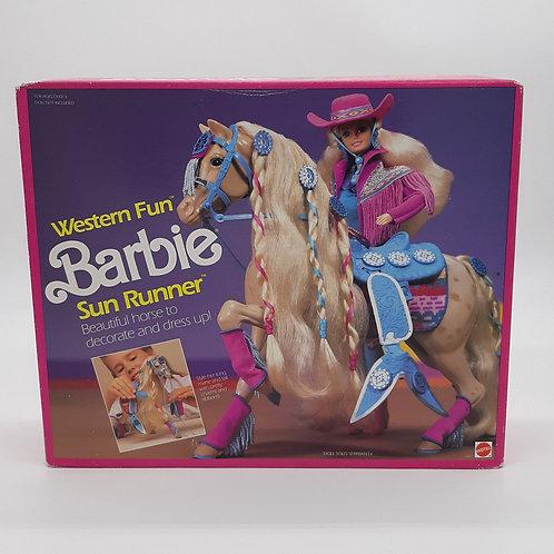 Vintage 1989 Western Fun Barbie Sun Runner Horse