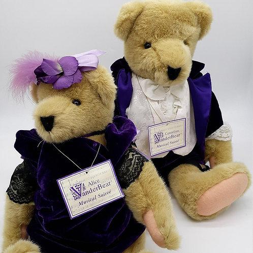 Vintage 1990 Alice & Cornelius Vanderbear - Musical Soiree Purple Velvet Collect